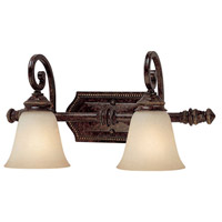 Capital Lighting 1522CB-287 Barclay 2 Light 21 inch Chesterfield Brown Vanity Wall Light