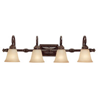 Barclay 4 Light 38 inch Chesterfield Brown Vanity Wall Light