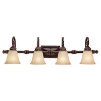 Capital Lighting 1524CB-287 Barclay 4 Light 38 inch Chesterfield Brown Vanity Wall Light
