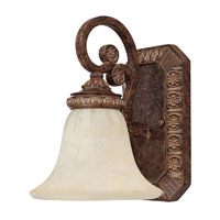 Capital Lighting Carlisle 1 Light Vanity in Dark Spice with Rust Scavo Glass 1541DS-265