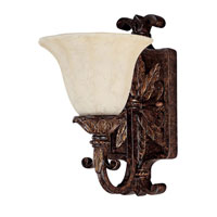 Capital Lighting Sheffield 1 Light Vanity in Chesterfield Brown with Rust Scavo Glass 1571CB-281 photo thumbnail