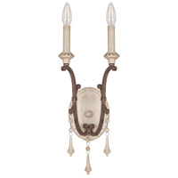 Chateau 2 Light 7 inch French Oak Sconce Wall Light