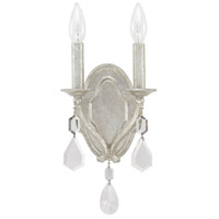 Blakely 2 Light 7 inch Antique Silver Sconce Wall Light in Clear