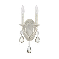 Capital Lighting Blakely 2 Light Sconce in Antique Silver with Clear and Antique Crystals 1617AS-PC