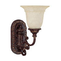 Capital Lighting Chesterfield 1 Light Sconce in Chesterfield Brown with Rust Scavo Glass 1676CB-283