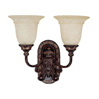 Capital Lighting Chesterfield 2 Light Sconce in Chesterfield Brown with Rust Scavo Glass 1677CB-283