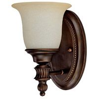 Capital Lighting Avery 1 Light Vanity in Burnished Bronze with Mist Scavo Glass 1701BB-291