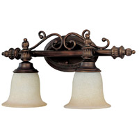 Capital Lighting Avery 2 Light Vanity in Burnished Bronze with Mist Scavo Glass 1702BB-291