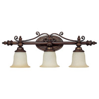 Capital Lighting Avery 3 Light Vanity in Burnished Bronze with Mist Scavo Glass 1703BB-291