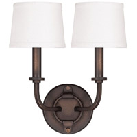 Chastain 2 Light 12 inch Tobacco Sconce Wall Light
