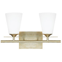 Capital Lighting Soho 2 Light Vanity in Winter Gold with Soft White Glass 1737WG-122