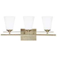 Capital Lighting Soho 3 Light Vanity in Winter Gold with Soft White Glass 1738WG-122