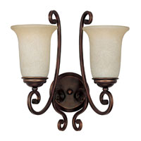 Capital Lighting Cumberland 2 Light Sconce in Burnished Bronze with Mist Scavo Glass 1762BB-251
