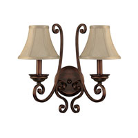 Capital Lighting Cumberland 2 Light Sconce in Burnished Bronze 1772BB-413