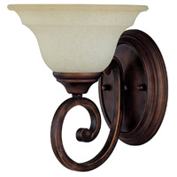 Capital Lighting Chandler 1 Light Sconce in Burnished Bronze with Mist Scavo Glass 1781BB-292