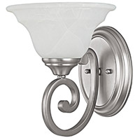Capital Lighting Chandler 1 Light Sconce in Matte Nickel with Faux White Alabaster Glass 1781MN-222