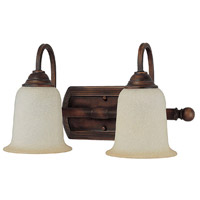 Metro 2 Light 17 inch Burnished Bronze Vanity Wall Light in Mist Scavo