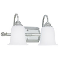 Signature 2 Light 17 inch Chrome Vanity Wall Light in Soft White