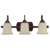 Capital Lighting Signature 3 Light Vanity in Burnished Bronze with Mist Scavo Glass 1793BB-293