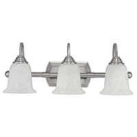 Capital Lighting Signature 3 Light Vanity in Matte Nickel with Faux White Alabaster Glass 1793MN-223