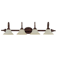Chandler 4 Light 44 inch Burnished Bronze Vanity Wall Light in Mist Scavo