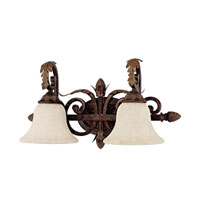 Capital Lighting Amberleigh 2 Light Vanity in Chesterfield Brown with Rust Scavo Glass 1822CB-285 photo thumbnail