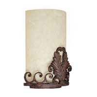 Capital Lighting Forrest Lake 3 Light Sconce in Gilded Umber with Rust Scavo Glass 1861GU