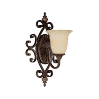 Capital Lighting Manchester 1 Light Sconce in Chesterfield Brown with Rust Scavo Glass 1878CB-294