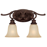 Capital Lighting Hill House 2 Light Vanity in Burnished Bronze with Mist Scavo Glass 1882BB-252