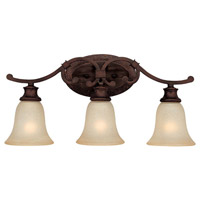 Capital Lighting Hill House 3 Light Vanity in Burnished Bronze with Mist Scavo Glass 1883BB-252