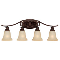 Capital Lighting Hill House 4 Light Vanity in Burnished Bronze with Mist Scavo Glass 1884BB-252