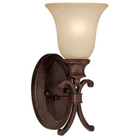 Capital Lighting Hill House 1 Light Sconce in Burnished Bronze with Mist Scavo Glass 1886BB-252