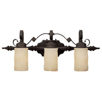 River Crest 3 Light 29 inch Rustic Iron Vanity Wall Light