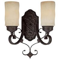 Capital Lighting 1907RI-125 River Crest 2 Light 13 inch Rustic Iron Sconce Wall Light