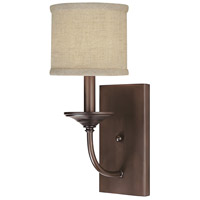 Loft 1 Light 7 inch Burnished Bronze Sconce Wall Light in Decorative Fabric