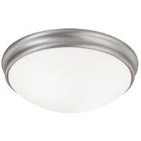 Capital Lighting Signature 2 Light Flush Mount in Matte Nickel with White Glass 2032MN