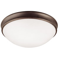 Signature 2 Light 12 inch Oil Rubbed Bronze Flush Mount Ceiling Light