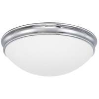 Signature 3 Light 14 inch Chrome Flush Mount Ceiling Light