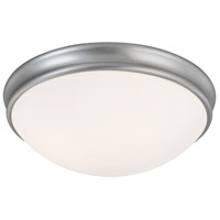 Capital Lighting Signature 3 Light Flush Mount in Matte Nickel with White Glass 2034MN