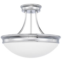 Signature 3 Light 14 inch Chrome Semi-Flush Mount Ceiling Light