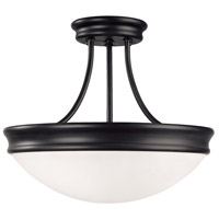 Capital Lighting 2037MB Signature 3 Light 14 inch Matte Black Semi-Flush Mount Ceiling Light