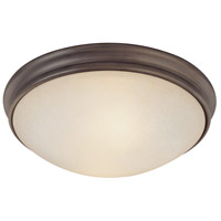 Capital Lighting Signature 2 Light Flush Mount in Oil Rubbed Bronze with Mist Scavo Glass 2042OR