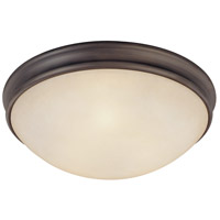Signature 3 Light 14 inch Oil Rubbed Bronze Flush Mount Ceiling Light
