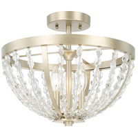 Camille 3 Light 15 inch Soft Gold Semi-Flush Mount Ceiling Light