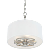 Corrigan 4 Light 15 inch Antique Silver Pendant Ceiling Light