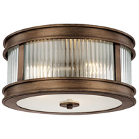 Capital Lighting Reid 3 Light Flush Mount in Rustic 212031RT