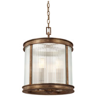 Reid 4 Light 14 inch Rustic Flush Mount Ceiling Light