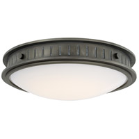 Nash LED 16 inch Gunmetal Flush Mount Ceiling Light