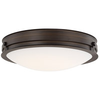 Signature LED 15 inch Burnished Bronze Flush Mount Ceiling Light