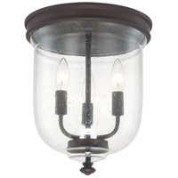 Capital Lighting Signature 3 Light Flush Mount in Burnished Bronze 214031BB